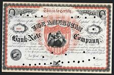 American Bank Note Co - FANTASTIC Stock Certificate - ONLY 4 known!!  - c1869