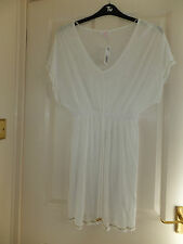 WHITE  BEACH DRESS XLG BNWT
