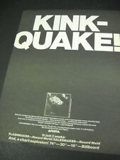 The KINKS Its A KINK-QUAKE with LOW BUDGET 1979 PROMO POSTER AD mint condition