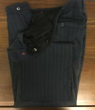 $360 + Tax ISAIA NAPOLI Men's Pinstripe Pants**MOP Button* Sz US 33W 30L