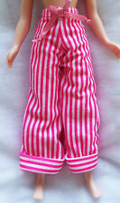 Stripy Pink and White Trousers to fit Neo Blythe - NO DOLL