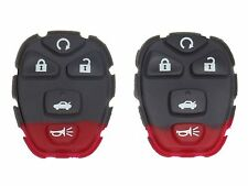 TWO GM KEYLESS ENTRY REMOTE 5 BUTTON RUBBER KEY PADS 22733524