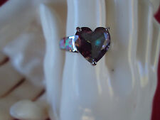 Genuine Mystic Topaz and Australian Pink Opal 5.20ct sterling silver  DAD-A1008