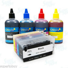 Refillable Ink Cartridge Kit for HP Designjet T520 T120 HP 711 HP711
