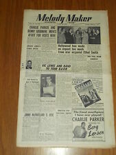 MELODY MAKER 1949 #819 APR 16 JAZZ SWING CHARLIE PARKER BENNY GOODMAN VIC LEWIS
