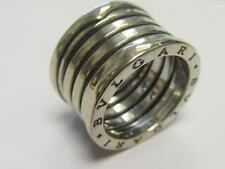 BVLGARI WOMENS BZERO1 18KT (750) WHITE GOLD 4-BAND RING 13.22G - SIZE 52 (K/L)