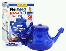 NeilMed NASAFlo Neti Pot One Neti Pot & 50 Premixed Packets ( See description)