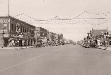 1940 Rice Lake Wisconsin WI Main Street photo CHOICE 5x7 or request 8x10 or 8x12