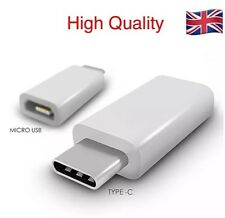 Type-C Male 3.1 to Micro USB Female Converter USB-C Adapter - White -UK Seller
