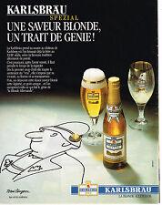 PUBLICITE ADVERTISING 015  1989  KARLSBRAU bière par TOMI UNGERER