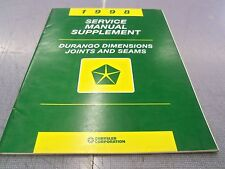 1998 Durango Dimensions Joints & Seams Service Manual Supplement FREE Ship!!
