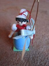 Christmas Ornament Wooden Doll Shephardess Midwest of Cannon Falls Cute Sheep