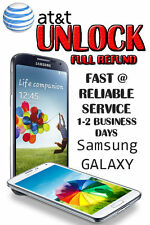 UNLOCK SERVICE/CODE FOR AT&T SAMSUNG GALAXY S2,S3,S4 NOTE 2,3 TAB.CLEAN IMEI.