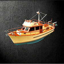 "MODEL BOAT PLANS 1/16 SCALE 33"" Radio Control trawler yacht F/S PRINTED PLANS"
