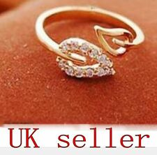 Gold Tone Fashion Leaves Costume Ring Adjustable Unisex Leaf Jewellery gift new