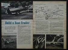 Boat Trailer 1955 How-To build PLANS Wooden Frame Great for salt water