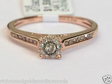 Fancy Champagne Diamond Rose Gold Halo Engagement Ring Bridal Vintage Cathedral