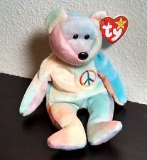 "TY Beanie Baby Original ""Peace"" Bear 1997 Retired"