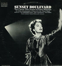 "LP 12"" 30cms: BO du film: sunset boulevard. Franz Waxman. RCA gold seal"