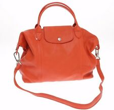 Longchamp 'Le Pliage Cuir' Leather Handbag paprika red shoulder bag $555