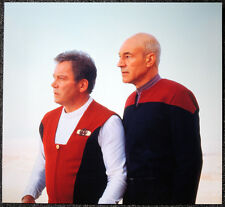STAR TREK POSTER PAGE . GENERATIONS CAPTAIN PICARD & CAPTAIN KIRK . NOT DVD V10