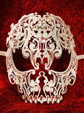 Skull Teschio Metall Swarovski - Venezianische Maske