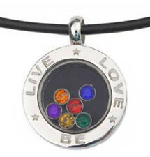Pride Shack - Live Love Be -CZ Glass Pendant - Lesbian / Gay Pride LGBT Necklace