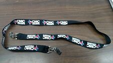 CMC Triggers Black Neck Lanyard with 2 Clips to Hold ID Badges
