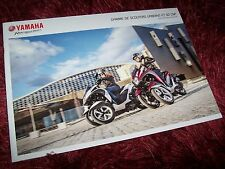 Catalogue /  Brochure YAMAHA Gamme / Full line Scooters 125 & 50 cc 2015//