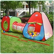 Triangle Tunnel 3-in-1 Playground Indoor Outdoor Ball Pit Play Tent Kids Toy NEW