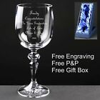 Personalised 10oz Wine Glass, Graduation Gift, With Satin Box, Free Engraving