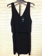 NEW Ralph Lauren womens little black DRESS pockets stretch sz 2X NWT $135 #1614