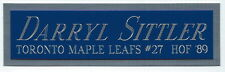 DARRYL SITTLER NAMEPLATE AUTOGRAPHED SIGNED HOCKEY STICK-JERSEY-PUCK-PHOTO CASE