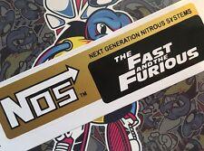 GRANDE FAST AND FURIOUS NOS Stile Logo Retrò Classico Logo Adesivo Decalcomania Grafica