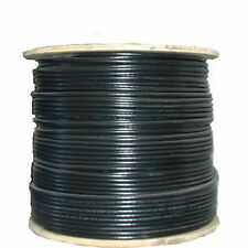 RG6 Coax Cable 18 AWG Bare Copper Conductor, 95% Copper Braid Shielding 1000ft