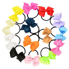 5pcs Women Elastic Bow Hair Ties Band Ropes Ring Ponytail Holder Accessories
