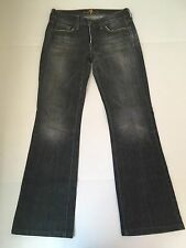 7 For All Man Kind Womans Dark Gray Wash Boot cut Jeans Size 28