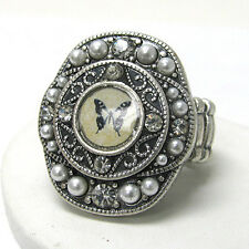 The Brave Butterfly - Animal Art Victorian Cameo Stretch Ring