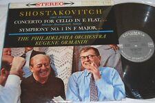 ROSTROPOVICH Shostakovitch ORMANDY Concerto SYMPHONY MS 6124 VG++ LP