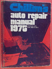1975 Chilton's (Auto Repair Manual)American Cars From 1968-1975 Made In U.S.A.