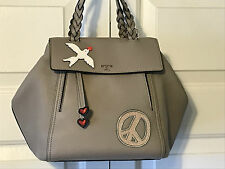TORY BURCH PEACE EMBELLISHED HALF-MOON SM SATCHEL LEATHER NWT $550