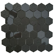"12x12 Ancient Sky Porcelain 2"" Hexagon Mosaic Blend for Backsplash & Floor Tile"