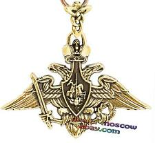 Bronze Solid Brass Original Keychain Coat of Arms of Armed Forces of Russia