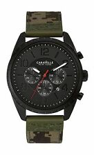 Caravelle New York Men's 45B123 Black Watch Camo Canvas Band