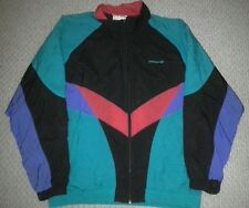 Adidas Black Red Purple Mint Track Jacket Mens M Zippers Trefoil Vintage Rare
