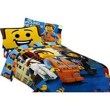 LEGO The Movie Emmett Full Double Comforter & Sheet Set (5 Piece Bed In A Bag)