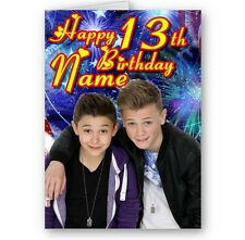 Personalised Bars & Melody, Name & Age A5 Happy Birthday Card with Envelope