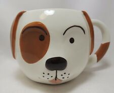 Puppy Dog Face Cereal Soup Coffee Mug Bowl 24 oz Hand Painted By 222 Fifth New