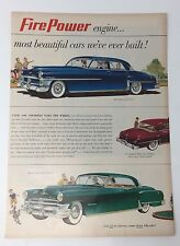 Original Print Ad 1951 CHRYSLER Fire Power Imperial New Yorker Clearbac