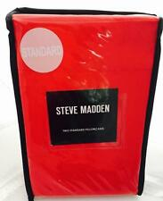 STEVE MADDEN 2PC SOLID RED  COLOR PILLOWCASE SET